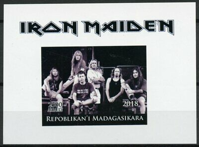 Madagascar 2018 MNH Iron Maiden Metal Band 1v Deluxe S/S Music Guitars Stamps