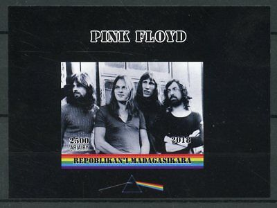 Madagascar 2018 MNH Pink Floyd Rock Band 1v Deluxe S/S Music Guitars Stamps