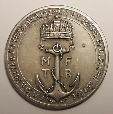 1915 SILVER Medal - For the memory of the ship journey of Charles IV and Zita