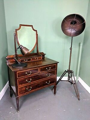 An Antique Edwardian Mahogany Dressing Chest Table ~Delivery Available~