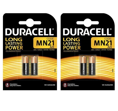 2 X 2 Duracell MN21 Alkaline Batteries A23 LRV08 12V *SPECIAL PRICE + FREE P&P*