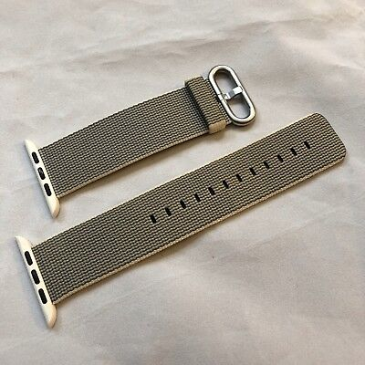 Apple Watch 42mm Woven Nylon Band Pearl Band OEM Genuine Apple MMA72AM/A
