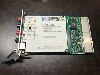 [National Instruments] NI PXI-4072 FlexDMM 191485B-03 TESTED Fast Shipping