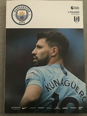 Man City FC v Fulham FC Programme (Season 2018/2019)