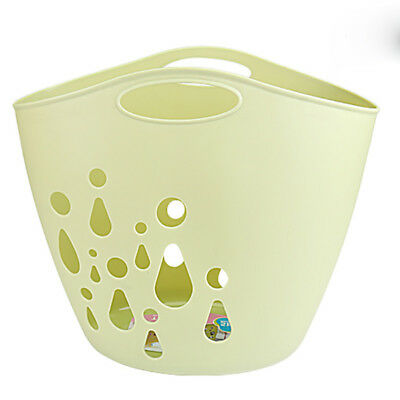 Water Drop Soft Basket Home Plastic Basket Shopping Contains Portable Drop Proof