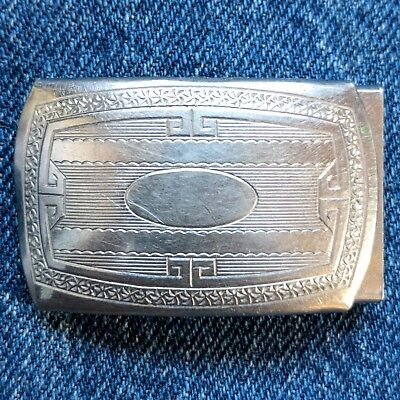 "Vintage 1920s 1930s mens belt buckle art deco fits 1"" belt"