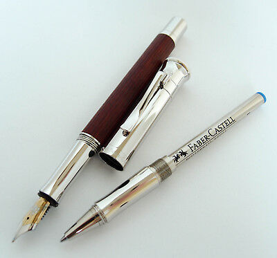 Graf Von Faber-Castell Pernambuco Fountain Pen w/added Rollerball Grip Section!