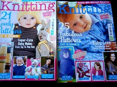 Knitting & Crochet Magazines November 2014 & March 2015 From Woman's weekly(new)