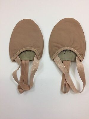 Capezio Pirouette II Leather Adult Lyrical Shoes (H062 NUDE), New in Bag (XL)