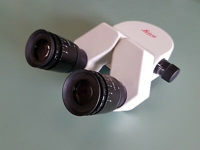 Leica binocular head complete of 10x eyepieces for surgical microscope