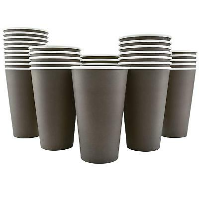 200 Pack Disposable Hot Paper 16Oz Coffee Cups - Mocha Brown (Cups Only) NEW