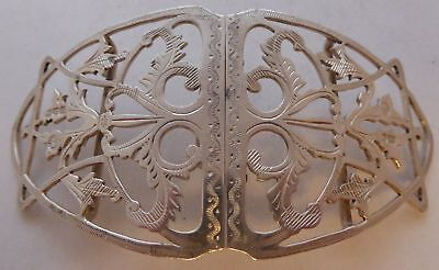London 1902 Hallmarked Solid Silver Nurses Buckle William Comyns