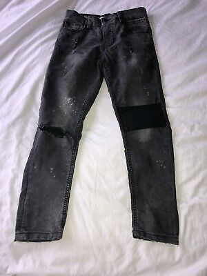 Boys Super Skinny grey distressed Jeans Age 8 From Next