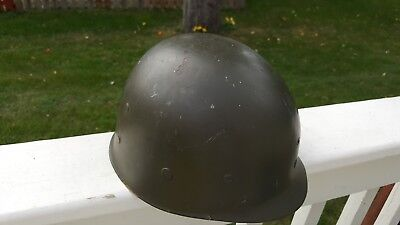 WWII US M-1 COMBAT HELMET LINER  BY WESTINGHOUSE NAMED to GERALD GRAY