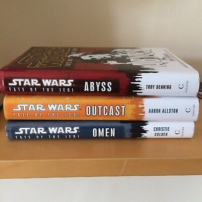 Star Wars Fate of the Jedi Abyss Omen and Outcast Book Bundle Hardback