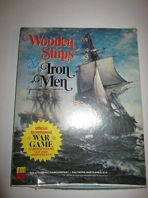 1975 Wooden Ships And Iron Men By Avalon Hill Unpunched Strategy War Game