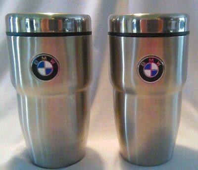 Bmw Stainless Steel 12 Oz.travel Mug / Matching Pair