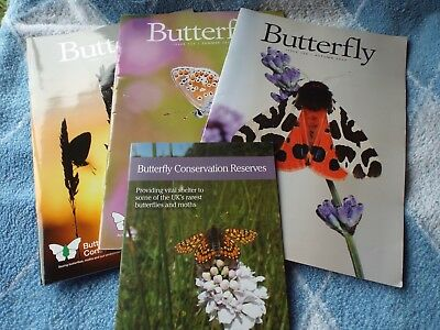 Butterfly Conservation UK Magazines #124, 125, 126 with their Booklet