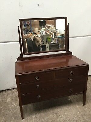 Antique Edwardian Mahogany Dressing Table / Chest of Drawers / Vanity