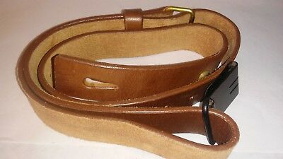Swedish 6.5 X 55 Mauser Sling M96 M38 Premium Drum Dyed Leather Reproduction