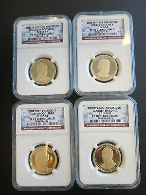 4-2014 S $1 Presidential Dollars PF 70 Ultra Cameo  13th-29th-31st & 32nd