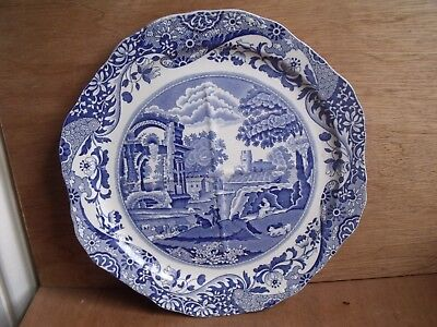 Copeland Spode Italian Sectional Cake Plate Blue & White Divided Free UK Post 1