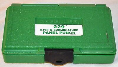 Greenlee 229 9 Pin D-Subminiature Panel Punch