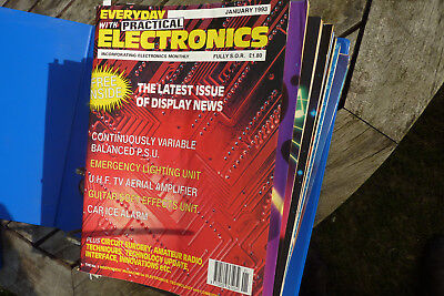Everyday (with practical) electronics magazines, 1993 complete year in binder
