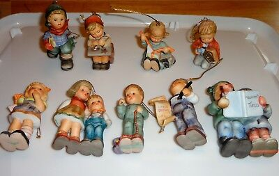 Hummel Ornaments-Assortment Of 9 - One Money-All Signed And Dated 1997