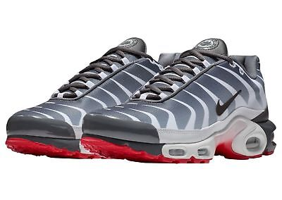 Nike Air Max Plus SE Before The Bite Mens AQ0237-100 Grey Red Shoes