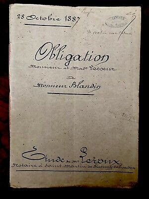 1800s Autographed and Handwritten Document 14 PAGES