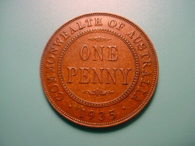 Australia 1935 Penny In Excellent Condition