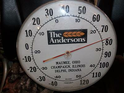 Indiana Farm Shop Find=Andersons Thermometer-Mauee,o.-Champaingn,ill.-Delphi,in