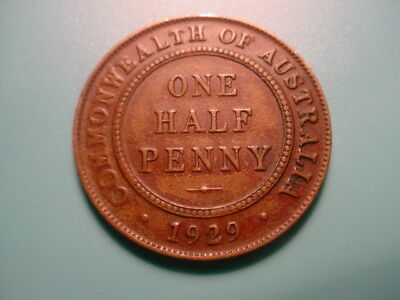Australia 1929 1/2-Penny In Excellent Condition