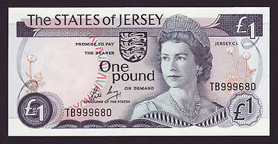JERSEY  -  1 pound,1976  -  P 11b  -  HIGH SERIAL NUMBER  -  UNC