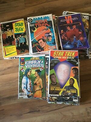 STAR TREK Huge Comic Book Lot 82 Issues GOLD KEY, MARVEL, DC, IDW ++