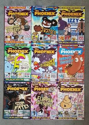 Bundle of 9 Phoenix Weekly Story Comics Childrens magazines May To July 2018