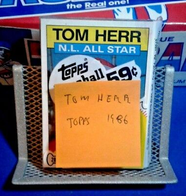 Unopened Topps Baseball Cards Pack - Tom Herr - Free Shipping & Wax Pack