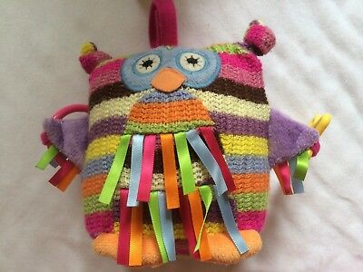 Jelly Kitten Owl - Soft Baby Activity Toy