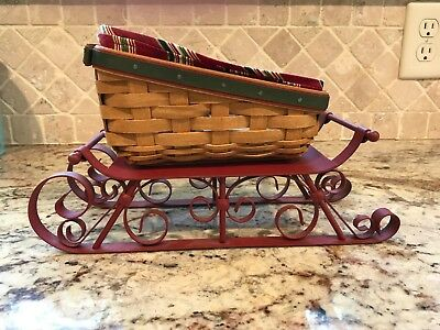 Longaberger * Sleigh * 2007 Holiday Helper combo with metal runners * RARE