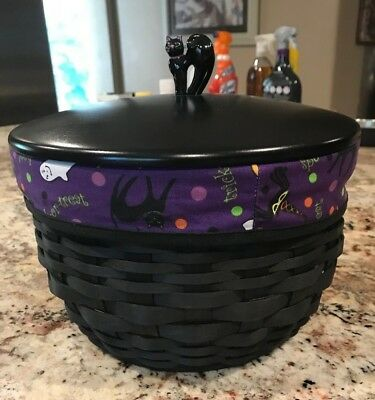 Longaberger * 2008 * Large Cauldron Basket combo * RARE