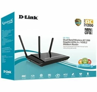 D-Link-Wireless-AC1200-Dual-Band-Gigabit-ADSL2-VDSL2-Modem-Router-DSL NBN