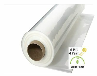 Greenhouse Plastic Cover Clear 6mil 4yr Poly Film 12-40 Widths x Various Lengths