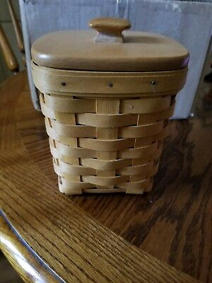 Longaberger Baskets Small Spoon With Wooden Lid 1999