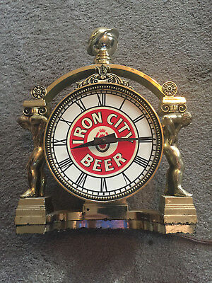 Iron City Beer Lighted Clock