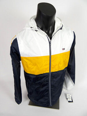 9e5bf5802094  60 Mens Southpole Zip Up Windbreaker Jacket Hoodie in Blue White Gold  Striped