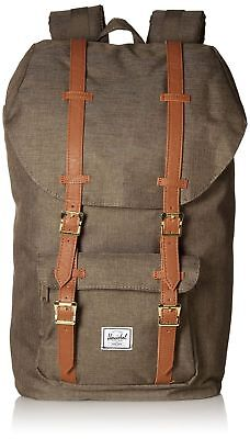 a31e387006d HERSCHEL LITTLE AMERICA Backpack Ivy Green Slub Tan Great Condition ...