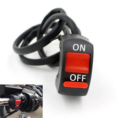 1Pc Black Plastic Universal Push-Button On-Off Switch For Motorcycle Practical