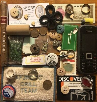 Old Antique Vintage Junk Drawer Estate Lot Coin Stamp Collectible Jewelry Bulk 4