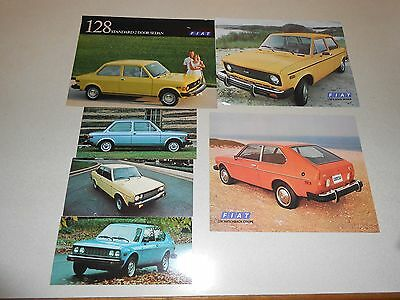 Fiat 128 131 Lot of 3 Specification Sheets and 3 Post Cards